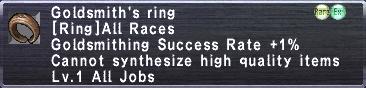Goldsmithing's ring