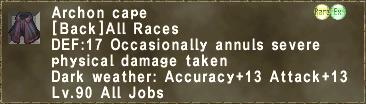 Archon cape