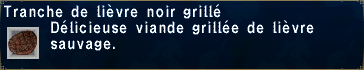 Lièvre noir grillé