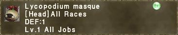 Lycopodium masque