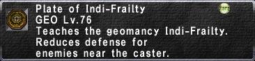 Indi-Frailty