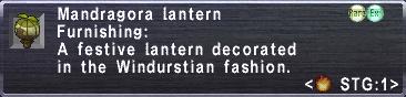 Mandragora Lantern