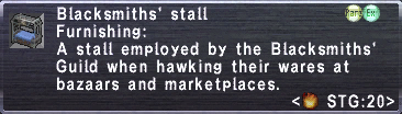 Blacksmiths' Stall