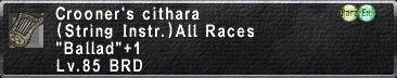 Crooner's Cithara