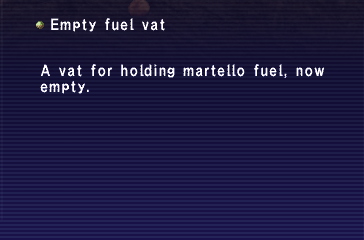 Empty Fuel Vat