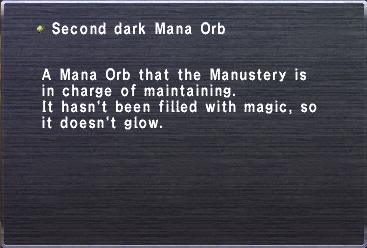 Second Dark Mana Orb