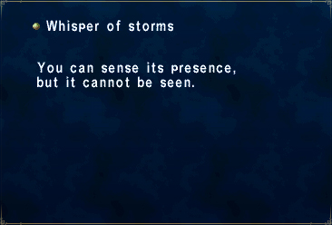 Whisper of storms