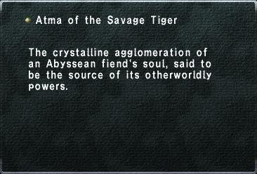 Atma of the Savage Tiger