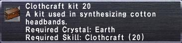 Clothcraft Kit 20