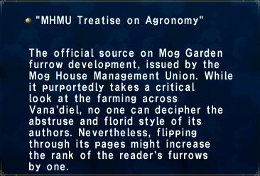 MHMU Treatise on Agronomy