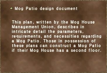Mog Patio design document