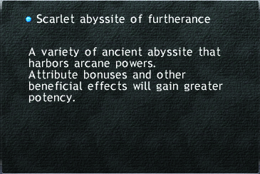 Scarlet abyssite of furtherance