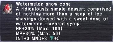 Watermelon Snow Cone