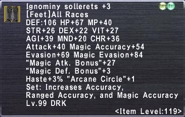 Ignominy Sollerets +3