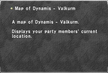 Map of Dynamis - Valkurm