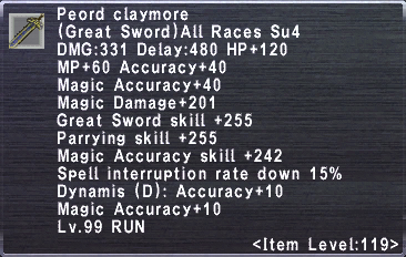 Peord Claymore