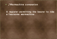 ♪Warmachine companion