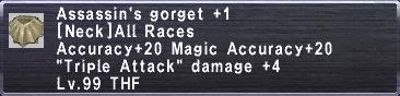 Assassin's Gorget +1
