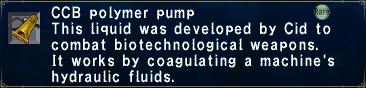 CCB Polymer Pump