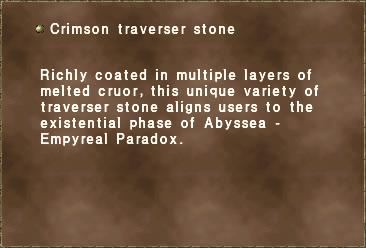 Crimson traverser stone