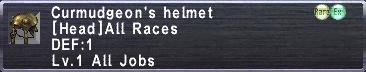 Curmudgeon's Helmet