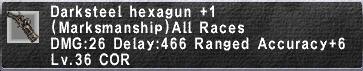 Darksteel Hexagun Plus 1