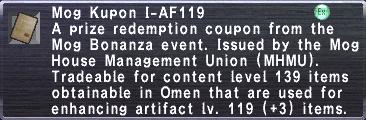 Kupon I-AF119