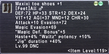 Maxixi Toe Shoes +1 ♂