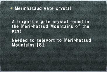 Meriphataud Gate Crystal