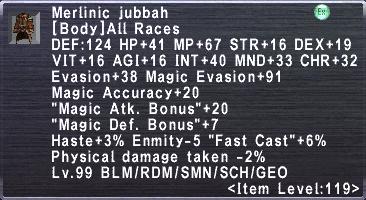 Merlinic Jubbah