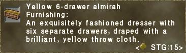 Yellow 6-drawer almirah