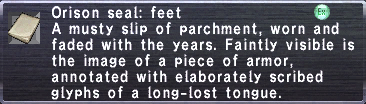 Orison Seal- Feet