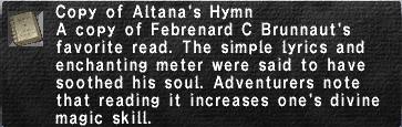 20 Altana's Hymn