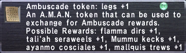 Ambuscade Token Legs +1