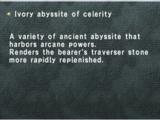 Ivory Abyssite of Celerity