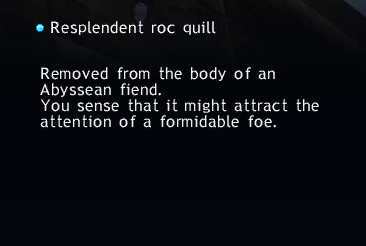 Resplendent roc quill