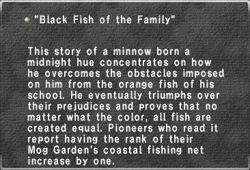 Black Fish of the Family