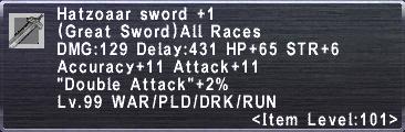 Hatzoaar Sword +1