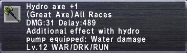 Hydro Axe +1