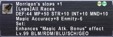 Morrigan's Slops +1