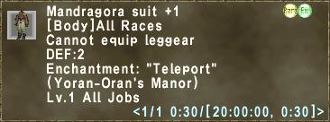 Mandragora suit +1