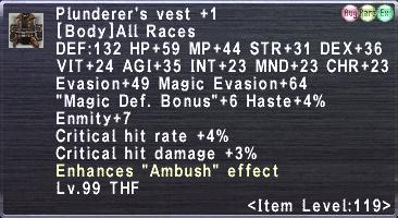 Plunderer's Vest +1