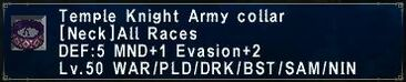 TK Army Collar