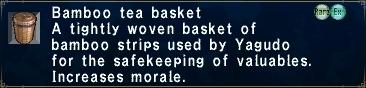 Bamboo Tea Basket