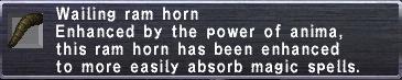 Wailing ram horn