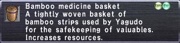 Bamboo Medicine Basket