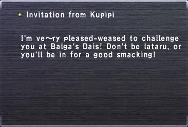 Invitation from Kupipi
