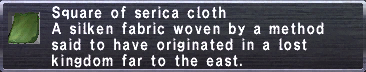 Serica Cloth description