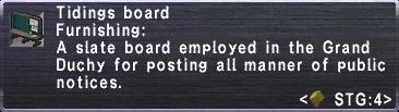 Tidings board info