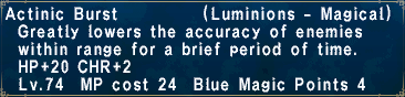 Actinic burst